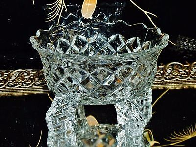 Art Deco Pressed Glass Footed Bowl  C 1920- 1930's