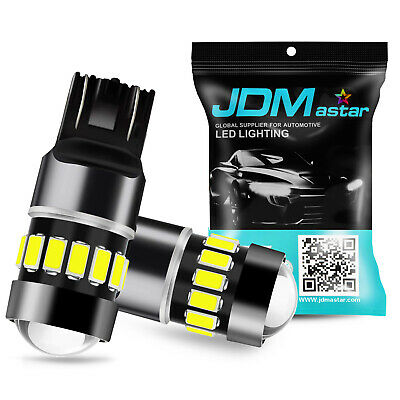 JDM ASTAR 2x 54-SMD 7443 7440 White LED Turn Signal Backup Reverse Lights Bulbs