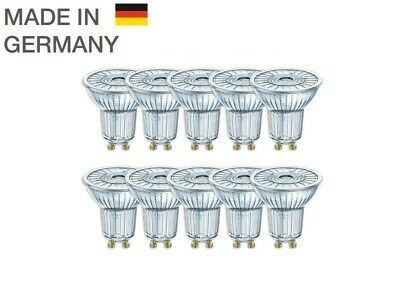10er-PACK OSRAM LED BASE PAR16 Glas GU10 Strahler 4.3W=50W 36° 2700K Germany