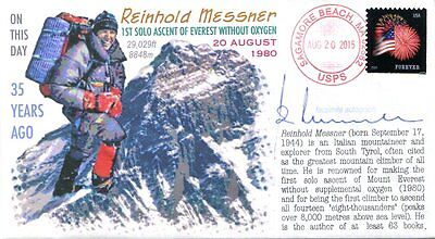 """COVERSCAPE computer designed 35th Reinhold Messner Everest ascent event cover"
