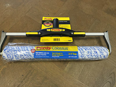 "Purdy Quick Connect Premium 12""-18"" Adjustable Paint Roller Frame + 18"" Roller"