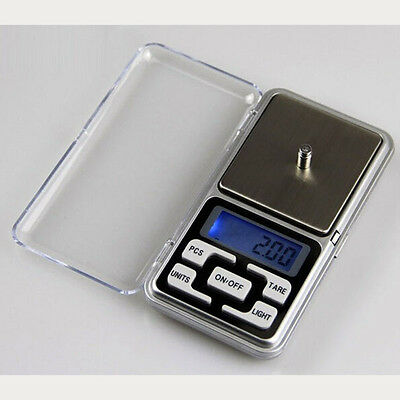 Portable 200 x 0.01g Digital Scale Jewelry Gold Herb Balance Weight Gram LCD