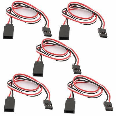 5Pcs 300mm 3 Terminal M/F RC Servo Extension Cord Cable Wire for RC Airplane