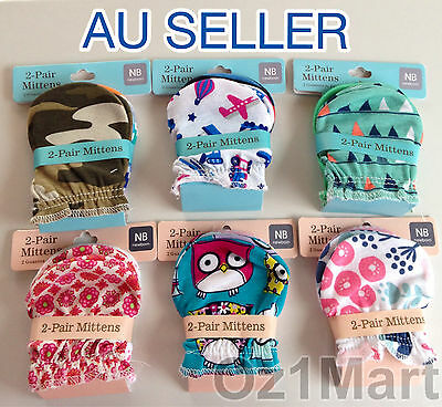 10 Pairs Quality Cotton Cute Baby Newborn Mittens Gloves for Boys and Girls