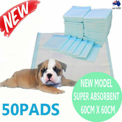 50pcs New 60x60cm Puppy Pet Dog Indoor Cat Toilet Training Pads Super Absorbent
