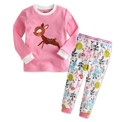 "Vaenait Baby Infant Toddler Kids Girls Clothes  Pajama Set ""Mini Bambi"" 12M-7T"