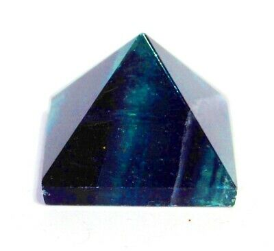 Reiki Energy Charged Green Fluorite Pyramid Crystal Natural Crystal Healing