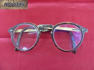 Antique Japanese Gold Plated & Celluloid Folding Matsuda Eyeglasses