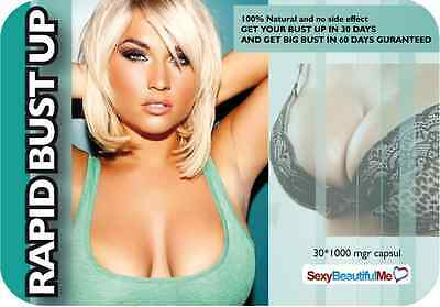 Rapid Bust Up Pill-Fuller,firmer,bigger&beautiful Breast-Result In Only 30 Days