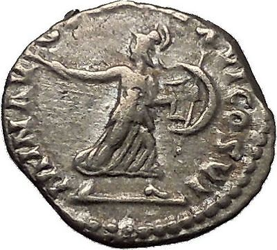 COMMODUS Son of Marcus Aurelius Silver Ancient Roman Coin Minerva Athena i52311