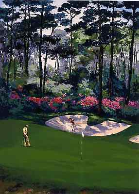 """Mark King - """"The 13th hole at Augusta"""", hand-signed serigraph on paper"""
