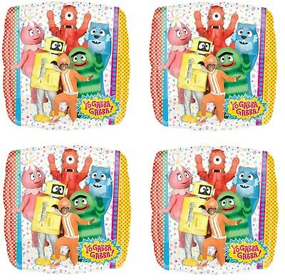 "4x NEW Yo Gabba Gabba 18"" Foil Birthday Decorations Balloon ~Party Favor Supply~"