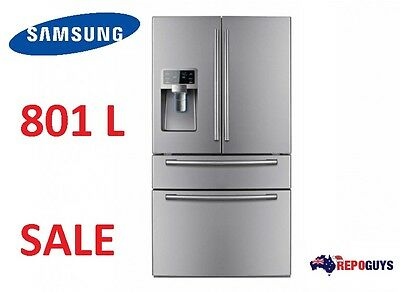 Samsung 801L French Door Fridge / Refrigerator with Twin Cooling SRF801GDLS