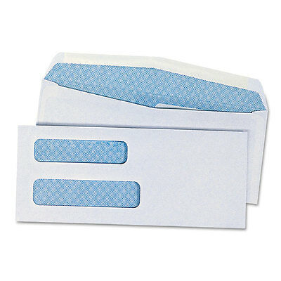 """Universal Double Window Check Envelope, #8 5/8, White, 500/box"""