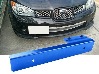 Blue Offset Bumper Front License Plate Mounting Bracket Plate for Audi BMW