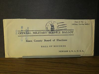 USS VALLEY FORGE LPH-8 Naval Cover 1966 MILITARY SERVICE BALLOT