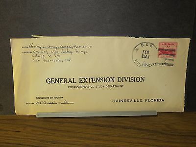 USS VALLEY FORGE CVA-45 Naval Cover O-S Division