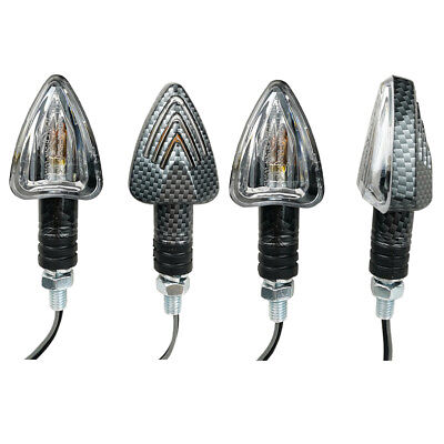 4x E-marked MINI ARROW Motorbike Motorcycle Signal Indicators Light Bulb Carbon