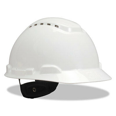 """3M H-700 Series Hard Hat W/4 Point Ratchet Suspension, Vented, White"""