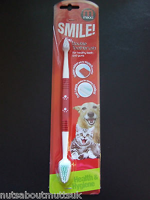 Mikki Dog Toothbrush -Clean Teeth Prevent Plaque & Gum Disease -Nuts About Mutts