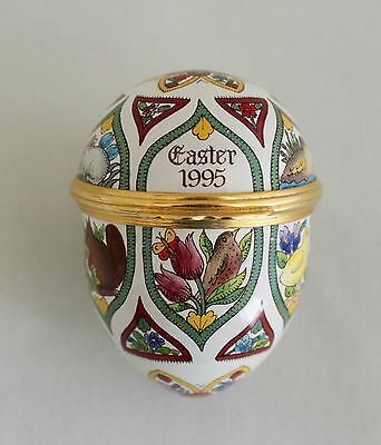 25th Anniversary HALCYON DAYS ENAMEL EASTER EGG 1995 ANNUAL DATED EDITION