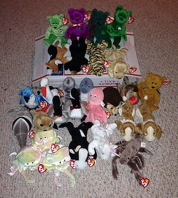 Ty Beanie Baby Lot-28 Beanie Babies All With Error!!! Very Rare Collection