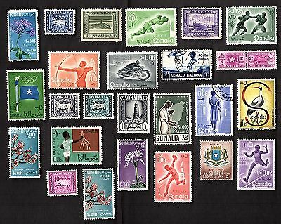 25 All Different ITALIAN SOMALIA /   SOMALILAND STAMPS