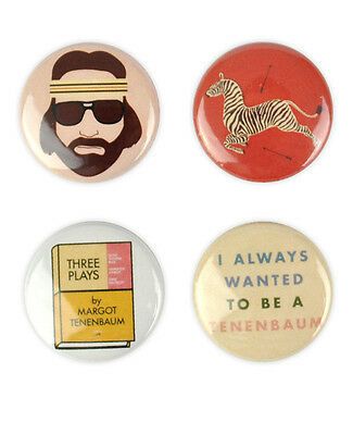 Royal Tenenbaum Badge Set! - Wes Anderson, Gwyneth Paltrow, Owen Wilson, Margot,