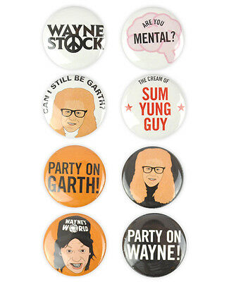 Waynes World Complete Badges! Party on Wayne! Party on Garth! Mike Myers,