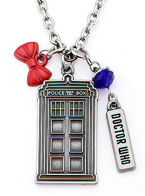 NEW Wholesale Lot of 13 Licensed Doctor Who Multi Charm Pendant Necklaces