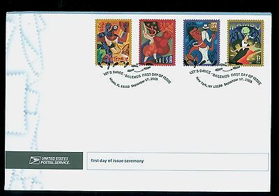 USA #3939-42 2005 37c Let's Dance Stamps First Day Ceremony Program