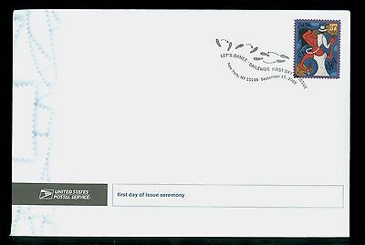 USA #3941 2005 37c Let's Dance Cha Cha Cha Stamp First Day Ceremony Program