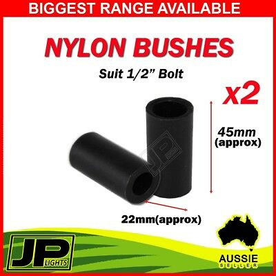 "Pair nylon spring bushes 45mm x 1/2"" 12mm  for trailer suspension bush"