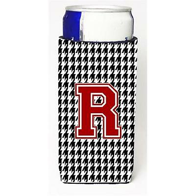 Carolines Treasures Houndstooth Monogram Letter R Michelob Ultra s For Slim Cans