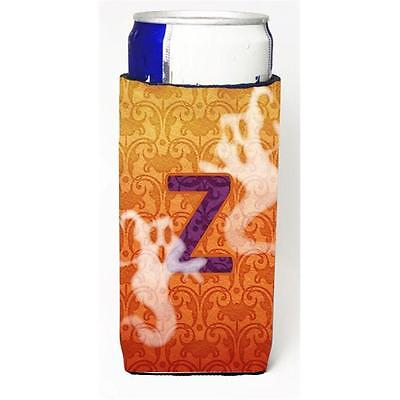 Halloween Ghosts Monogram Initial Letter Z Michelob Ultra s For Slim Cans