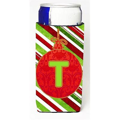 Christmas Ornament Holiday Monogram Initial Letter T Michelob Ultra s For Sli...