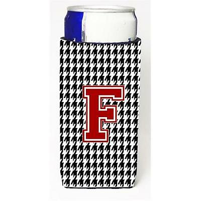 Carolines Treasures Monogram Houndstooth Letter F Michelob Ultra s For Slim Cans