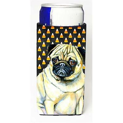 Pug Candy Corn Halloween Portrait Michelob Ultra s for slim cans