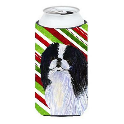 Japanese Chin Candy Cane Holiday Christmas Tall Boy Hugger 22 To 24 oz. • AUD 47.47