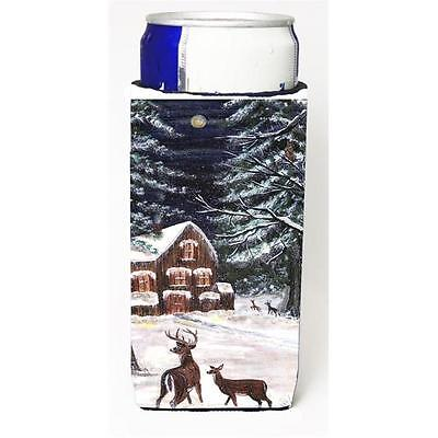 Carolines Treasures Winter Scene With Deer Michelob Ultra s For Slim Cans 12 oz.