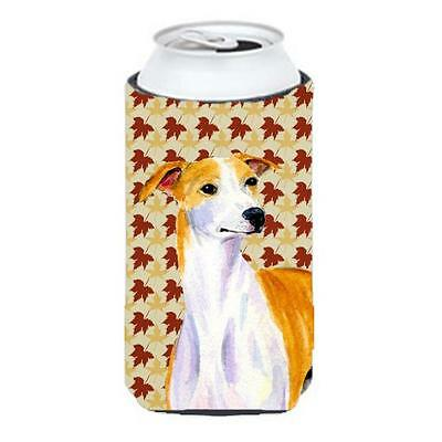 Carolines Treasures LH9103TBC Whippet Fall Leaves Portrait Tall Boy Hugger