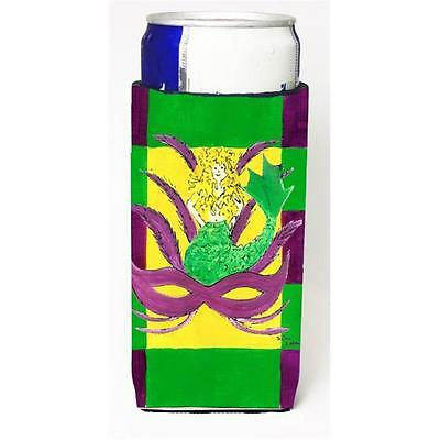 Mardi Gras Blonde Mermad With Mask Michelob Ultra s For Slim Cans 12 oz.