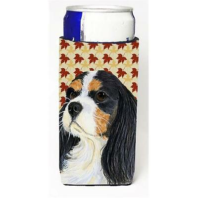Cavalier Spaniel Fall Leaves Portrait Michelob Ultra s for slim cans