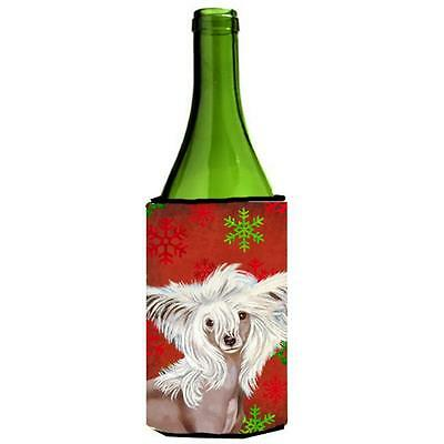 Chinese Crested Snowflakes Holiday Christmas Wine Bottle Hugger • AUD 48.26