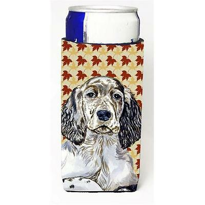 English Setter Fall Leaves Portrait Michelob Ultra s for slim cans • AUD 47.47