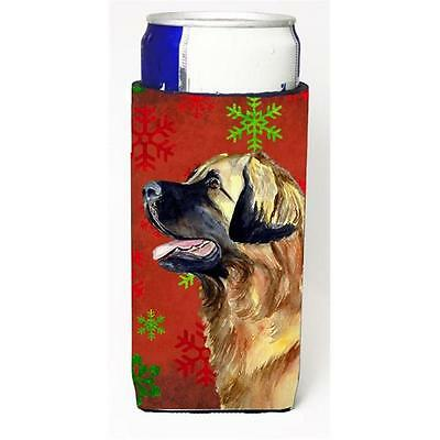 Leonberger Red and Green Snowflakes Holiday Christmas Michelob Ultra s for sl...