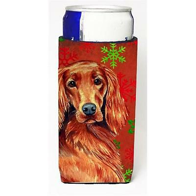 Irish Setter Red and Green Snowflakes Holiday Christmas Michelob Ultra s for ...