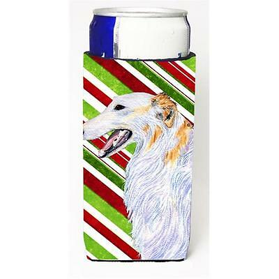 Borzoi Candy Cane Holiday Christmas Michelob Ultra s For Slim Cans 12 oz.