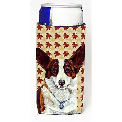 Corgi Fall Leaves Portrait Michelob Ultra s For Slim Cans 12 oz.
