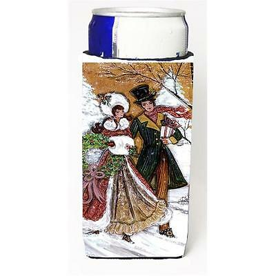 Couple Skating Winter Scene Michelob Ultra s For Slim Cans 12 oz.